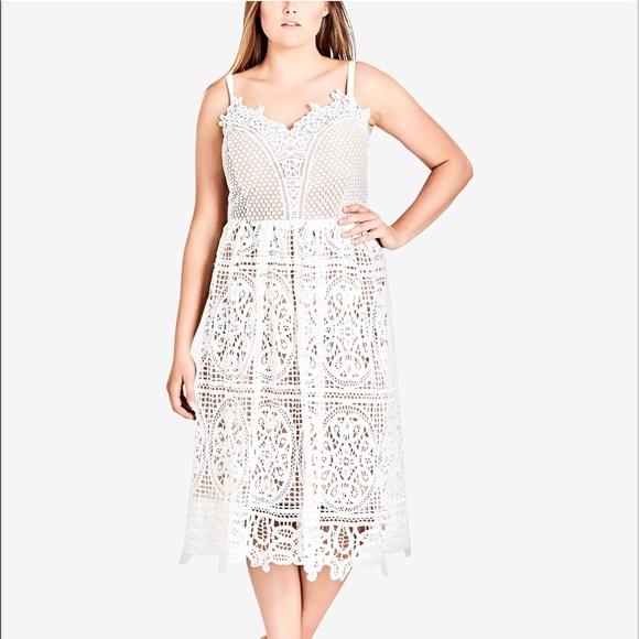 dabe80eff City Chic Dresses   Skirts - City Chic Ivory Fancy Free Dress